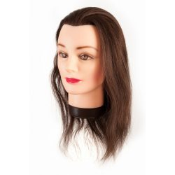 Eurostil modellező babafej tartóval 40cm eredeti hajjal