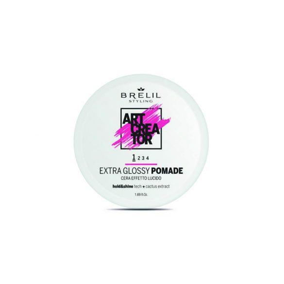 Brelil Art Creator Extra Glossy Pomade - Könnyed tartást biztosító fényes wax  50 ml
