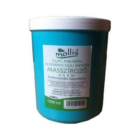 Mollis Masszírozó krém (Illat, parabén és ásványi olaj mentes) - 1000 ml