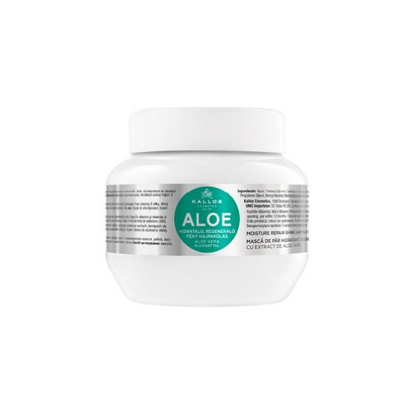 KALLOS Aloe Vera Hidratáló, Regeneráló Fény Hajpakolás 275 ml