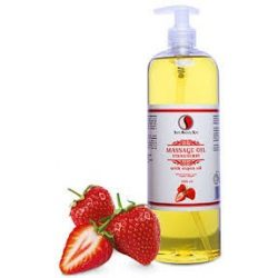 Sara Beauty Spa Masszázsolaj Eper - argánolajjal, E-vitaminnal 250ml / 1000ml