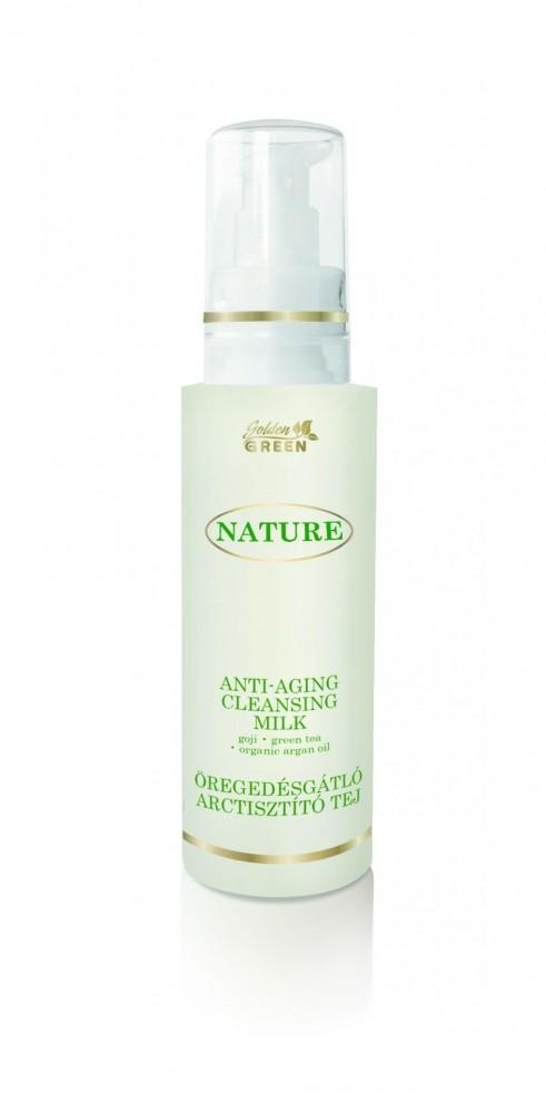 GOLDEN GREEN NATURE Öregedésgátló arctisztító tej 200ml - DR