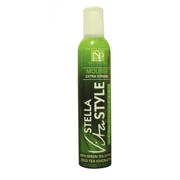 VitaStyle hajhab Extra erős, volumennövelő, modellező hab, zöld tea kivonattal 300ml