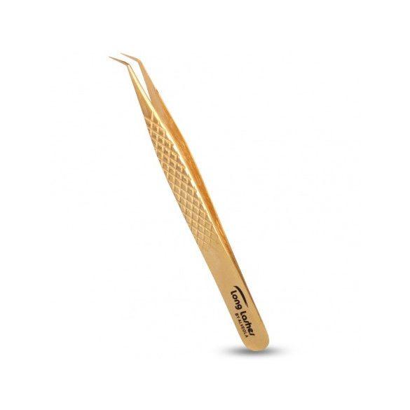 Long Lashes csipesz hajlított - arany, 12cm