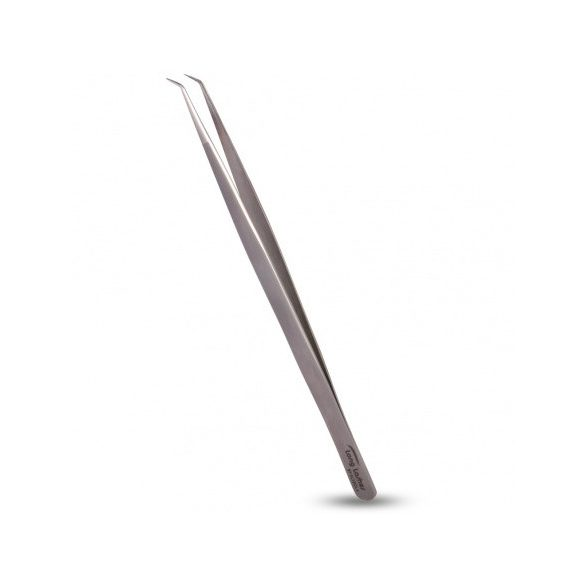 Long Lashes csipesz, keskeny hajlított - ezüst, 13,5cm