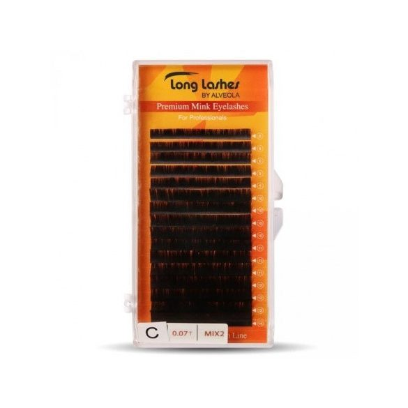 Long lasheas Extreme volume mink pilla C/0,07-8-14mm MIX
